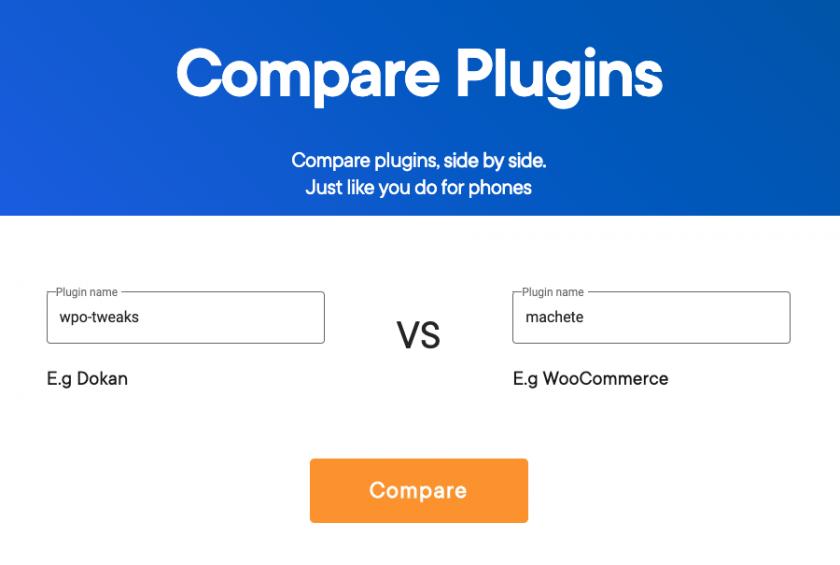 compare plugins tools
