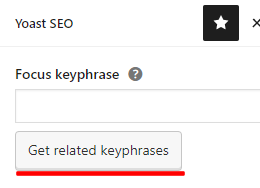 Get related keyphrases with Yoast seo
