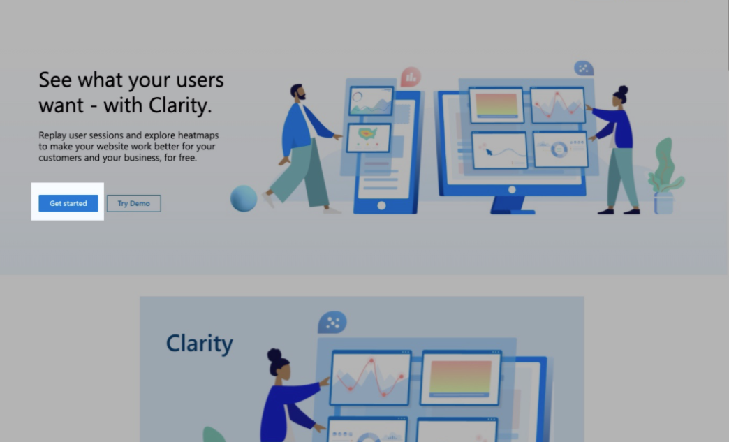 Microsoft clarity main page