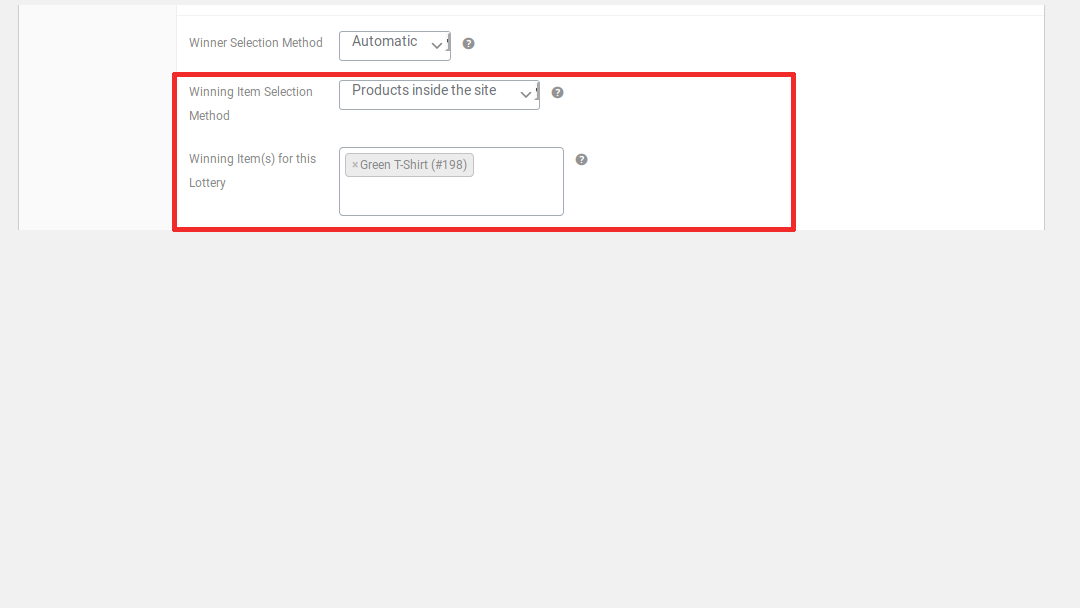 Lottery for woocommerce lottery product settings