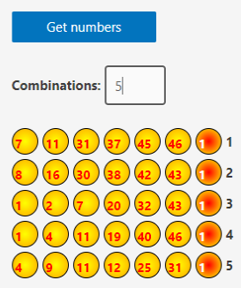 lotto widget example