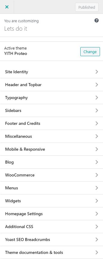 proteo theme customizations
