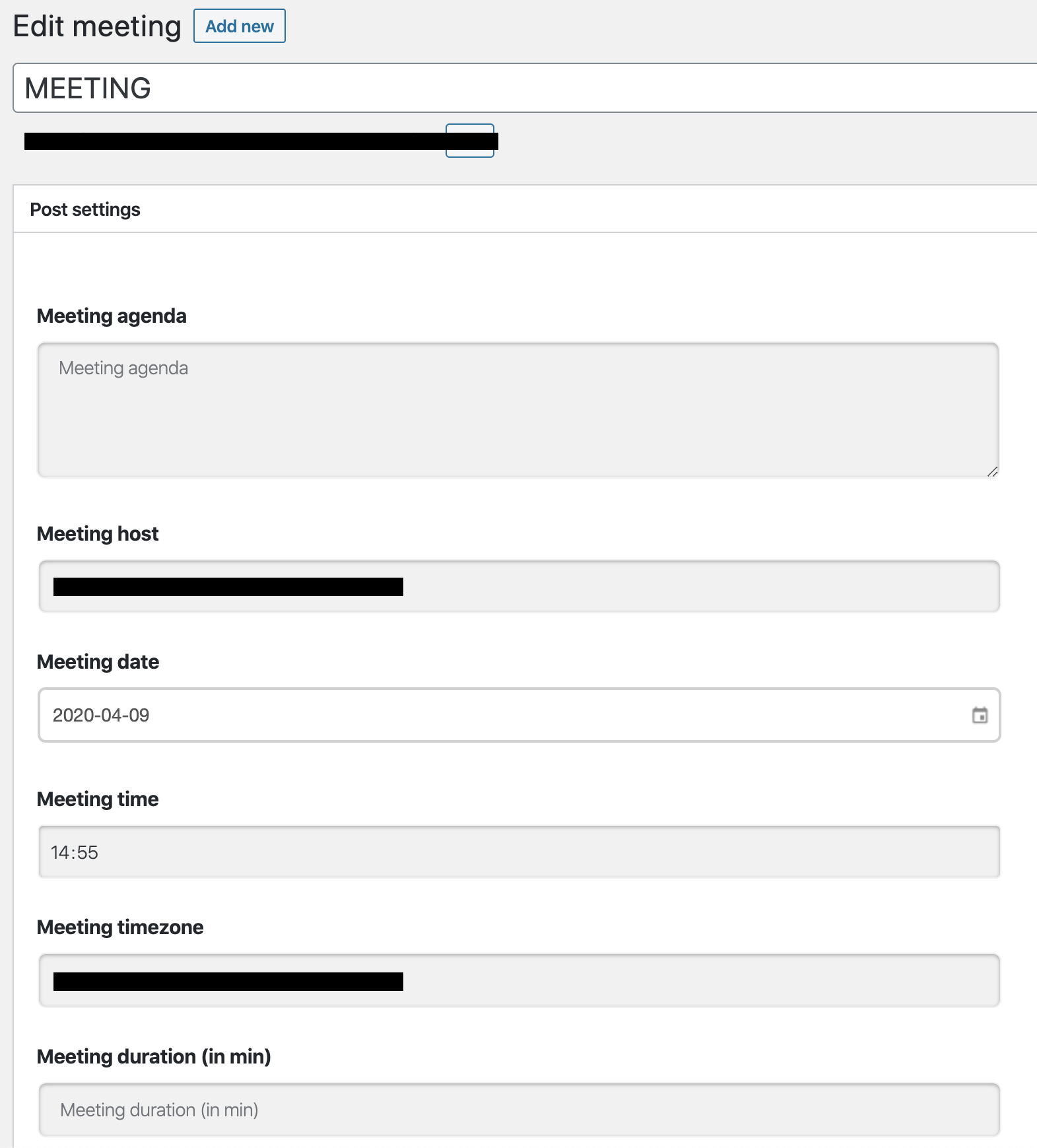 eroom meeting management