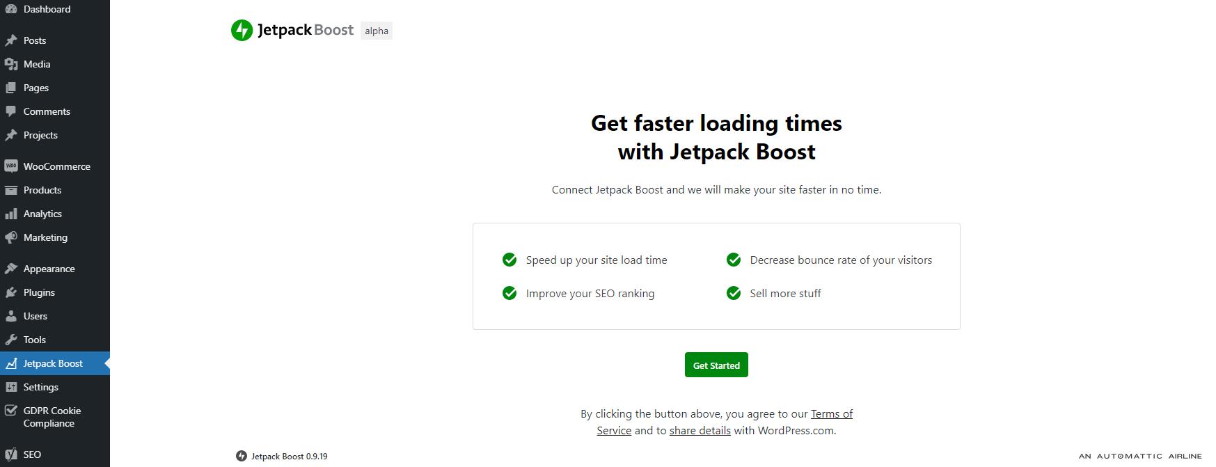 Jetpack boost first steps