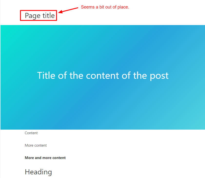 page title shown