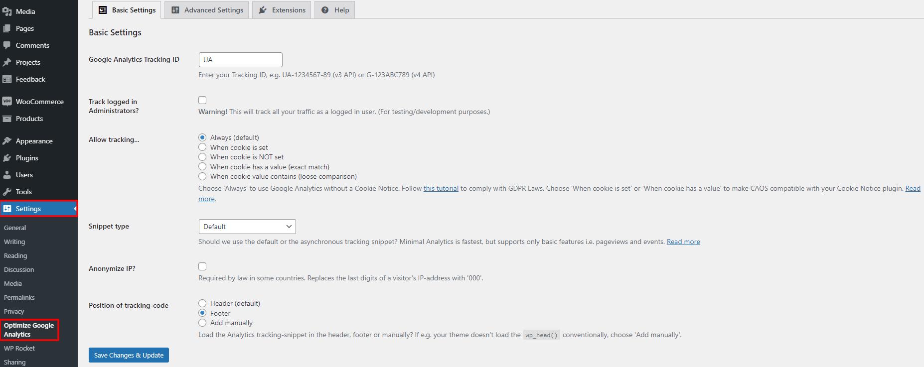 complete analyst optimization suite plugin settings