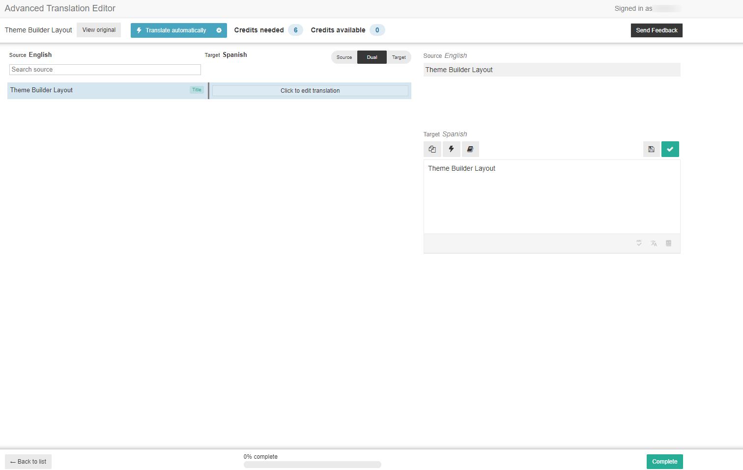 WPML advanaced translation editor on Divi theme builder items
