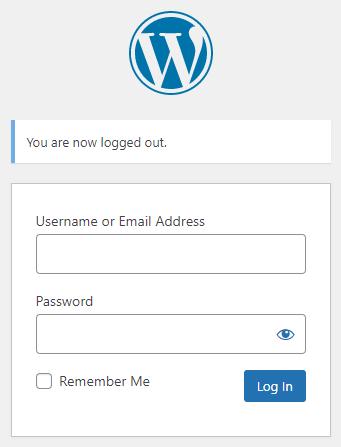 wp login