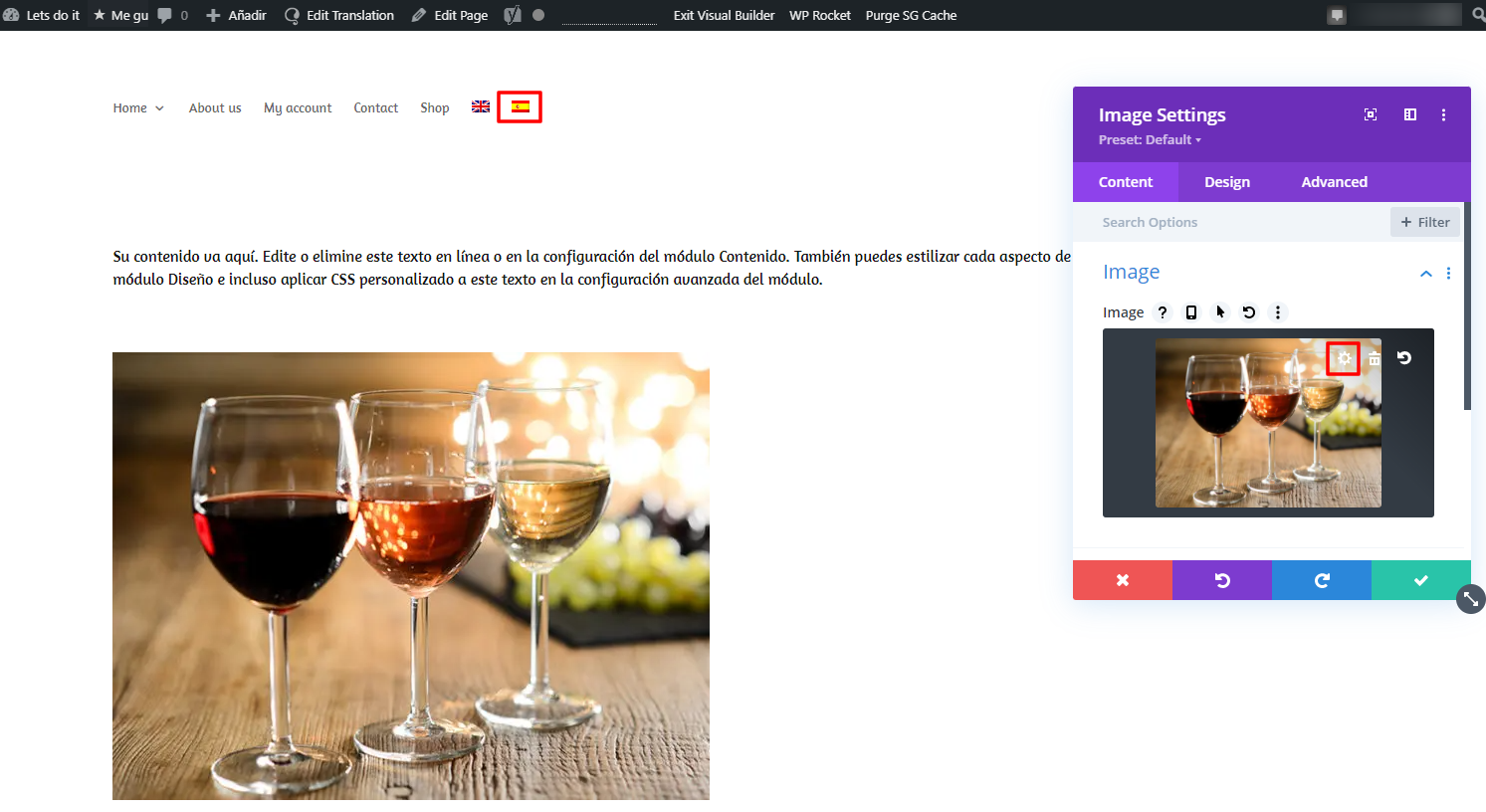 how to replace media items inside a divi content type