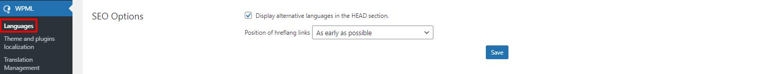 WPML SEO options